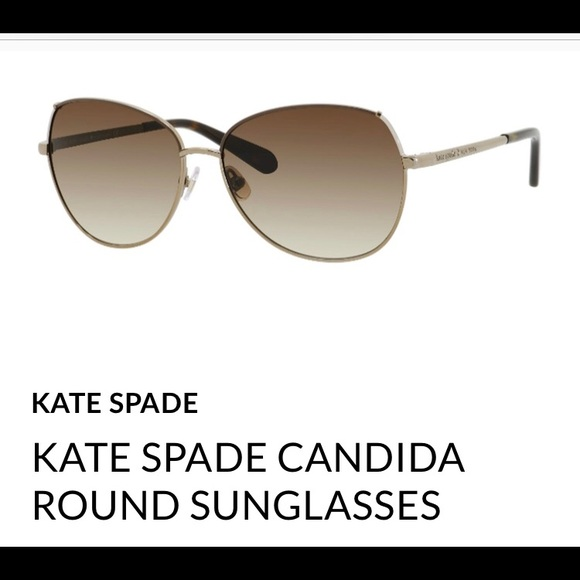8fbaf6b5d353 kate spade Accessories - EUC Kate Spade Candida Round Sunglasses